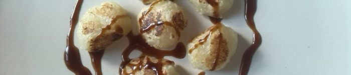 Fried Mochidumplings with Hoisin Sauce